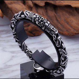 Skeleton skull ☠️ men's bracelet